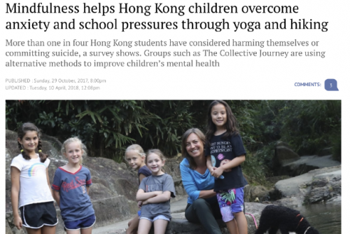 Mindfulness helps Hong Kong children overcome anxiety and school pressures through yoga and hiking – an article featured in South China Morning Post