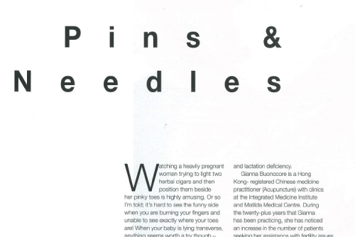 Pins & needles – an article featured in Playtimes