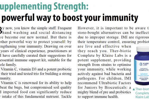 Supplementing strength: a powerful way to boost your immunity – an article featured in The Standard
