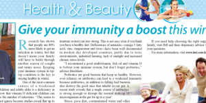 Give your immunity a boost this winter! – an article featured in The Standard