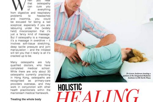 Holistic healing – an article featured in Around DB