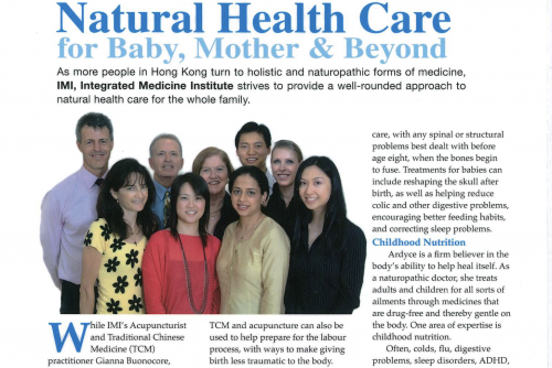 Natural Health Care for Baby, Mother & Beyond – an article featured in The Parents' Journal