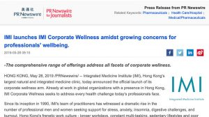 IMI launches IMI Corporate Wellness amidst growing concerns for professionals' wellbeing