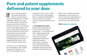 Pure and potent supplements delivered to your door – an article featured in AroundDB